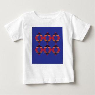 Het ontwerp blokkeert blauwe Etnisch Baby T Shirts