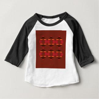 Het ontwerp blokkeert etnische Chocolade Baby T Shirts