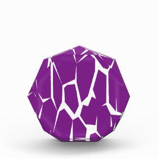 Het ontwerp blokkeert paarse Koe Acryl Prijs