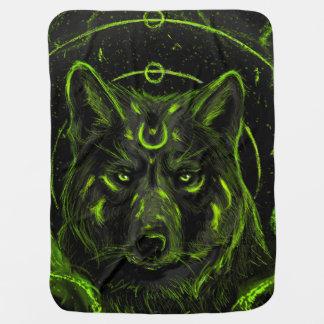 Het ontwerp grafische koele anime blik van de wolf inbakerdoek