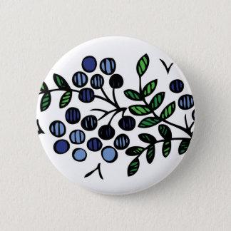 Het ontwerp van de de knoopbloem van de bosbes ronde button 5,7 cm