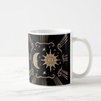 Het ontwerp van de de koffiekop van de zon en van koffiemok