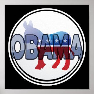 Het Ontwerp van de Democraat van Obama Poster