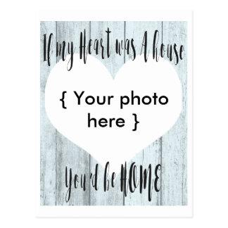 Het ontwerp van de het huisDouane van het hart Briefkaart