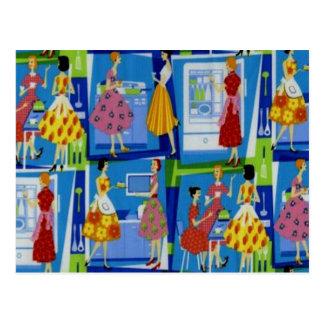 het Ontwerp van de jaren '50Huisvrouw Briefkaart