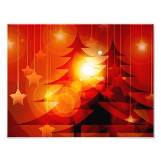 Het Ontwerp van de Kerstboom van de vakantie Foto Print