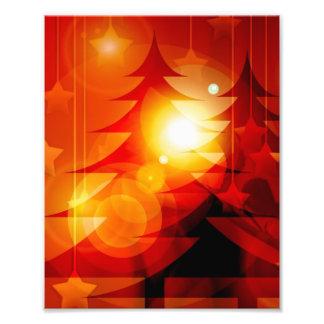 Het Ontwerp van de Kerstboom van de vakantie Fotoafdruk