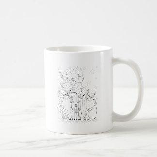 Het Ontwerp van de Kunst van de Lijn van de Scène Koffiemok