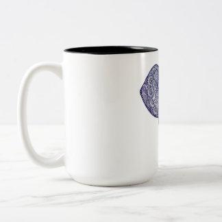 Het ontwerp van de Kunst van de Olifant van de Tweekleurige Koffiemok
