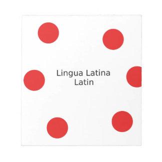 Het Ontwerp van de Latijnse Taal (Lingua Latina) Notitieblok