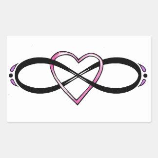 Het ontwerp van de Liefde van Infinate Rechthoekvormige Stickers