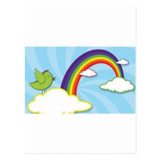 Het ontwerp van de regenboog briefkaart