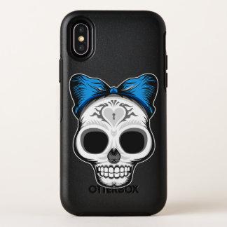 Het Ontwerp van de Schedel van de suiker OtterBox Symmetry iPhone X Hoesje