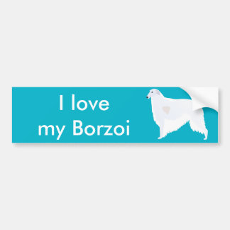 Het Ontwerp van de Sjabloon van het Ras van Borzoi Bumpersticker