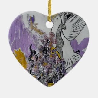 Het Ontwerp van de Slangen en van de Vrouw van de Keramisch Hart Ornament
