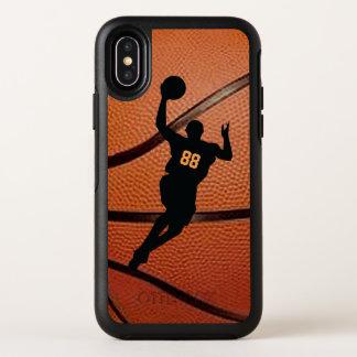 Het Ontwerp van de Speler van het basketbal OtterBox Symmetry iPhone X Hoesje