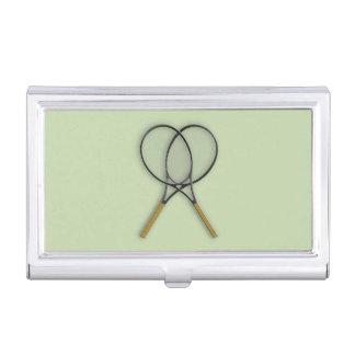 Het Ontwerp van de Sporten van de Rackets van het Visitekaartjes Houder