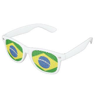 Het Ontwerp van de Vlag van Brazilië Retro Zonnebril