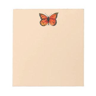 Het Ontwerp van de Vlinder van de monarch op Notitieblok
