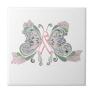 Het Ontwerp van de Vlinder van Kanker van de borst Tegeltje