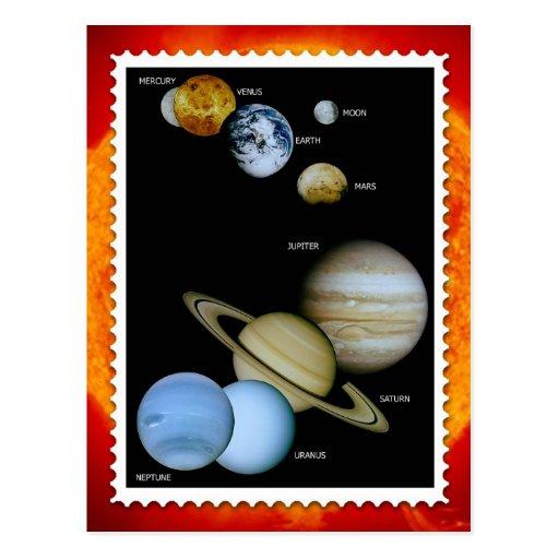 Het Ontwerp van de Zegel van het zonnestelsel Wenskaart