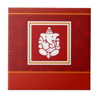 Het Ontwerp van Ganesha van de god Tegeltje Vierkant Small