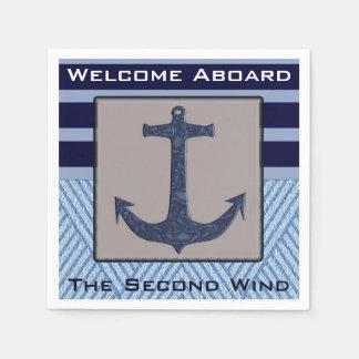 Het ontwerp van het Anker van de boot & Wegwerp Servet