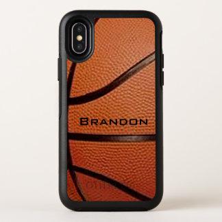 Het Ontwerp van het basketbal OtterBox Symmetry iPhone X Hoesje