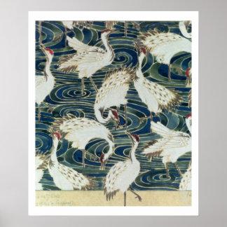 Het ontwerp van het behang, door de Zilveren Studi Poster
