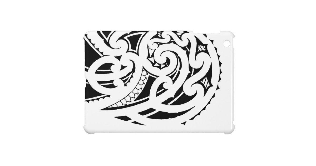 het ontwerp van het de schoudertattoo van maori ipad mini