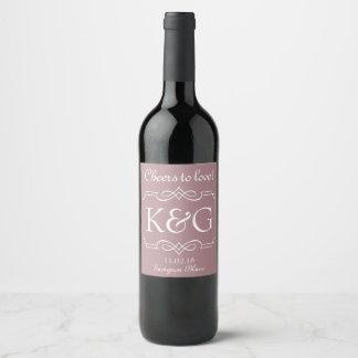 Het ontwerp van het de wijnetiket van het monogram