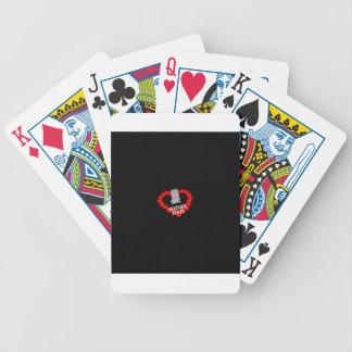 Het Ontwerp van het Hart van de kaars voor de Poker Kaarten