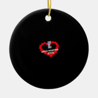 Het Ontwerp van het Hart van de kaars voor de Rond Keramisch Ornament