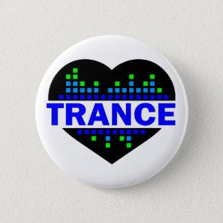 Het ontwerp van het Hart van de trance Ronde Button 5,7 Cm
