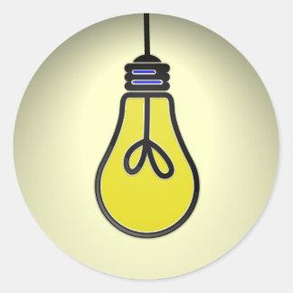 Het Ontwerp van het Idee van Lightbulb Ronde Sticker