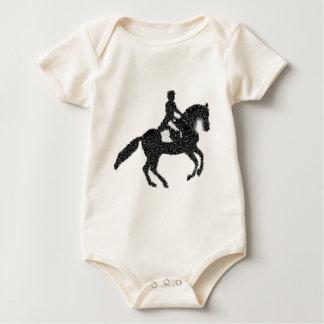 Het Ontwerp van het Mozaïek van het Paard en van Baby Shirt