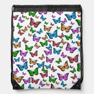 Het Ontwerp van het Patroon van vlinders Trekkoord Rugzakje
