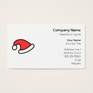 Het Ontwerp van het Pet van de kerstman Visitekaartjes