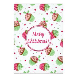 Het ontwerp van Kerstmis cupcakes met de groeten Kaart