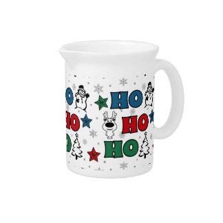 Het ontwerp van Kerstmis ho-Ho Drank Pitcher