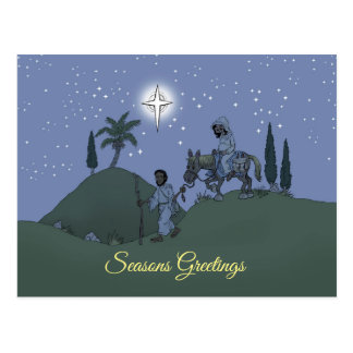 Het ontwerp van Kerstmis op een prentbriefkaar Briefkaart