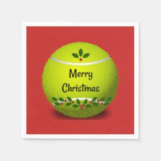 Het Ontwerp van Kerstmis van het tennis Wegwerp Servet