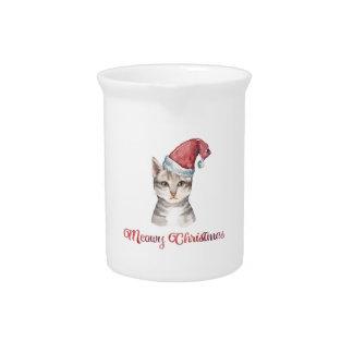 Het Ontwerp van Kerstmis van Meowy voor de Bier Pitcher