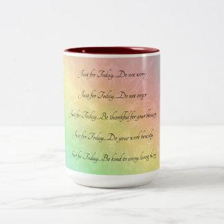 Het ontwerp van Mandala van de Regenboog van de Tweekleurige Koffiemok