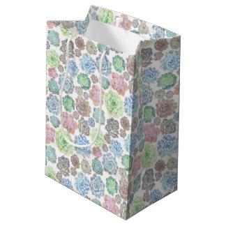 Het ontwerp van Succulents giftbag Medium Cadeauzakje