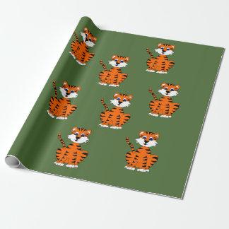 Het ontwerp verpakkend document van de tijger inpakpapier