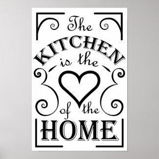 Het ontwerpcitaat van de keuken poster
