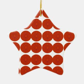 Het ontwerpillustratie van citroenen keramisch ster ornament
