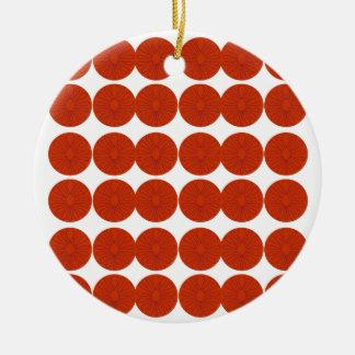 Het ontwerpillustratie van citroenen rond keramisch ornament