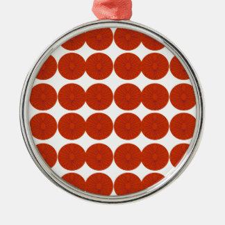 Het ontwerpillustratie van citroenen zilverkleurig rond ornament